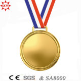 Nylon RibbonのカスタムBlank Gold Metal Medal