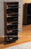 Modern High UV Gloss Wooden 5 Drawers Shoe Cabinet (XE51)