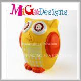 Banco Piggy do projeto cerâmico do OEM da boa vinda com a coruja dada forma