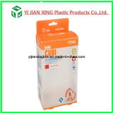 Rectángulo del empaquetado plástico con la aduana de los PP de la maneta impresa para la botella que introduce