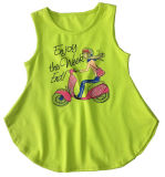 T-shirt manches sans manches Vest for Girl in Fashion Vêtements pour enfants (SV-021-029)