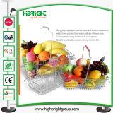 Cestino ovale dei supermercati del cestino di acquisto del metallo