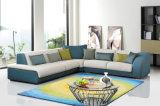 Sofà d'angolo stabilito del tessuto del salone del sofà moderno della mobilia