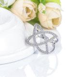 최신 은 금에 의하여 도금되는 CZ 다이아몬드 반지 관례 (CRI01025)