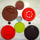 Tampa colorida personalizada do copo da borracha de silicone do produto comestível