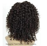 pelucas llenas del cordón del pelo peruano rizado del enrollamiento de la densidad 20inch 190%-200%