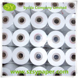 Bobine blanche de papier thermosensible pour la réception