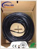 Cat5e 0.9mm 1.3mmのメッセンジャーワイヤーが付いている屋外UTPネットワークコミュニケーションケーブル