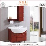 Европейский самомоднейший твердый деревянный шкаф ванной комнаты тщеты санузла дуба