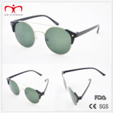 Klassiek en Hot Sales met Metal Round Frame en Plastic Temple Sunglasses (MI212)
