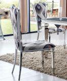 ファブリックカバーが付いている椅子のステンレス鋼フレームの食事