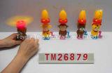 Mini Mano-Conducir el juguete de destello del loto con el caramelo