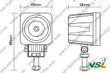 10W 10-30V 900lm CREE 6000k del trabajo del LED lámpara de luz, fuera de la luz del camino del tractor, Focos impermeable para el coche