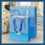 Impresión en offset y bolso de encargo material de la insignia del papel (DM-GPBB-128)