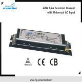 Approbation de la CE 48W 1.2A LED Driver avec entrée universelle AC
