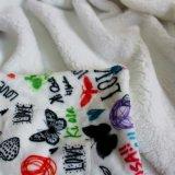デジタルによって印刷されるMicrofiberの子供の赤ん坊のRaschelの珊瑚の羊毛毛布2つの層の