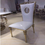 BanquetのためのC095-1ローズGold Painting Dining Chair