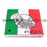 Weiß außen und natürlicher/Kraftpapier-Innenpizza-Kasten (PB14126)