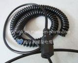 Cable trifásico del espiral de la fuente de alimentación del socket del enchufe del estándar europeo