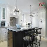 白黒塗られたラッカー純木の木の食器棚