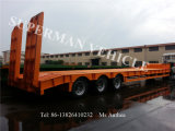 60t de lage Semi Aanhangwagen van de Vrachtwagen van de Lading van Lowbody van het Bed
