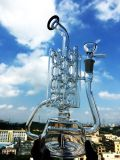 Hbking 새로운 디자인 Recycler 유리제 수관, 담배 유리제 연기가 나는 관, 연기가 나는 수관