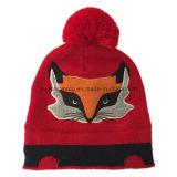 冬の暖かいアクリルの編まれたジャカード帽子の頭骨の帽子か帽子