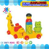 子供のプラスチックデスクトップのおもちゃの漫画の動物のブロック