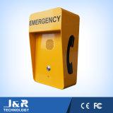 Rectángulo de la llamada de emergencia del camino, teléfono accionado solar el SOS