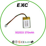 502533 3.7V 350mAh Rechargeable李Polymer Battery