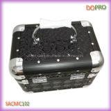 Glossy Stepp PVC Reiz Aluminum Makeup Vanity Box mit Schloss (SACMC102)