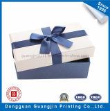 Boîte-cadeau spéciale de papier lustré de couleur bleue pour l'empaquetage de bijou