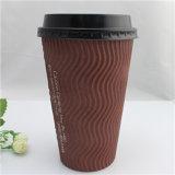Qualitäts-Zeichen gedruckter Papiercup-Kaffee, Kaffee-Papiercup
