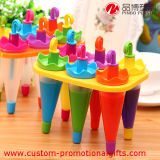 Umbrella di plastica Shape Stand Popsicle Mold Set 6 in 1