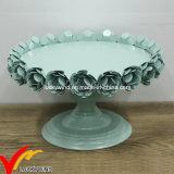 Ferro antico francese del basamento della torta di cerimonia nuziale del ferro del metallo dell'annata all'ingrosso con le rose