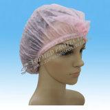 Hairnet não tecido descartável, Bouffant Cap não tecido, tampão redondo não tecido