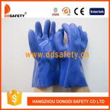 파란 PVC 장갑 화학 저항하는 안전 작동 장갑 Dpv116