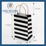 Saco branco puro do papel de embalagem (DM-GPBB-033)
