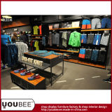주문을 받아서 만들어진 최신 판매 운동복 상점 전시 가구, 공장에서 스포츠 착용 소매 전시