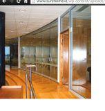 Divisorio di vetro di alluminio dell'ufficio (muro divisorio invisibile)