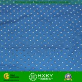 Diseño de la estrella con la tela perforada teñida llana del poliester