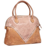Md6032 Women Hrad Leather Handbag Tan Trend Leather Handbags con Stud
