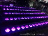 arandela impermeable de la pared LED de la luz al aire libre LED del disco de 18*10W RGBW 4in1