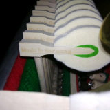 piano à queue noir de bébé de 186cm