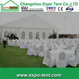 結婚式のための決め付けられた創造的で白く大きい党テント