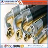 Boyau hydraulique de tube de la spirale en caoutchouc En856 4sh/4sp de fil