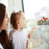 Alimentador personalizado de pássaros de janela com bandeja desmontable para o Natal