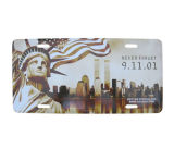 Piatto decorativo del blocco per grafici impresso marchio su ordinazione americano della targa di immatricolazione