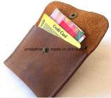 Auténtica tarjeta de crédito Carpeta de cuero del caso con la manija