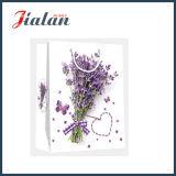 熱い販売-アートペーパーのラベンダーの花のショッピングギフトの紙袋